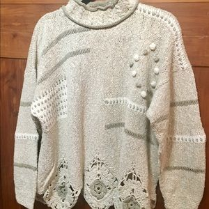 Tivoli  Cream Hand Knit Irish Sweater